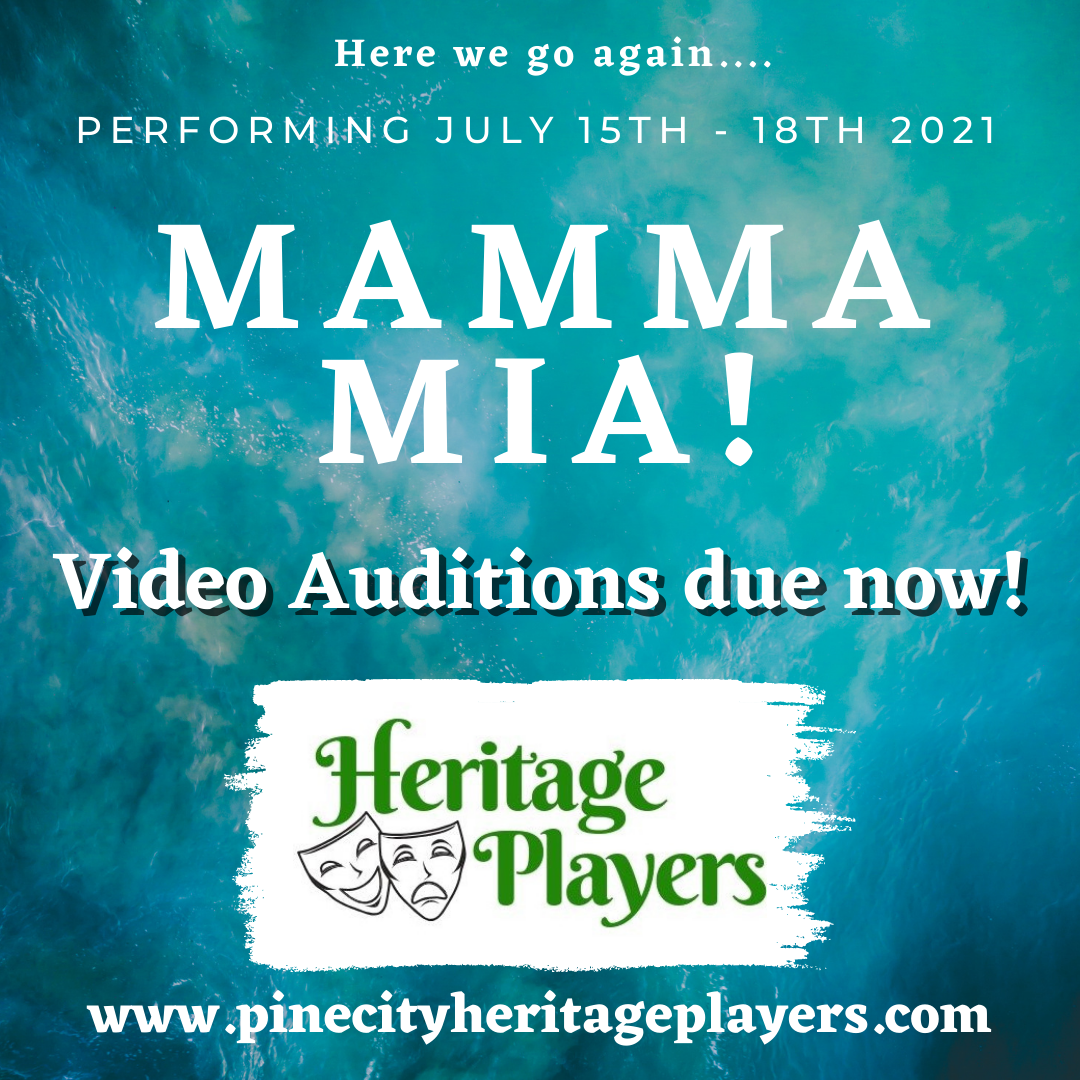 """Video Auditions For """"Mamma Mia"""" due June 10th"""